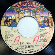 DONNA SUMMER 45 Bad Girls / On My Honor NEAR MINT Disco JA PRESS c1481