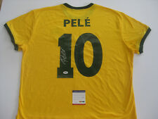 PELE BRAZIL SIGNED SOCCER SHIRT Jersey PSA DNA #7A75633 THE REAL DEAL