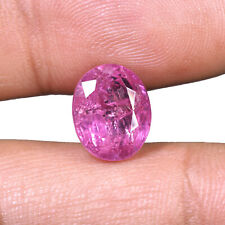 NATURAL UNHEATED RUBY 7.35 Cts Sparkling Red Lustrous GJEPC Certified Gemstone