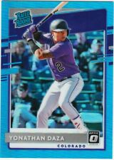 YONATHAN DAZA RC 2020 DONRUSS OPTIC BLUE PRIZM /50 RATED ROOKIE REFRACTOR # 77