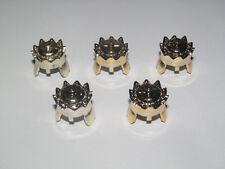 Lego ® Accessoire Minifig Lot x5 Casque Roi Gold King Helmet ref 71015 NEW