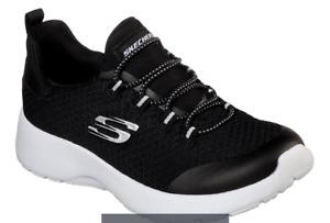 Skechers Girls Dynamight - Race n' Run Sneaker,  Black, Little Kid Girl Sz 11.5