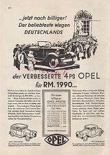 RÜSSELSHEIM, Werbung 1930, Automobil-Fabrik Adam Opel AG verbesserter 4 PS Opel