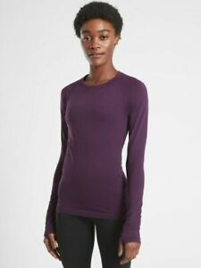 ATHLETA Momentum Top Agate Purple NWT S Small Lightweight #530524 Workout Casual
