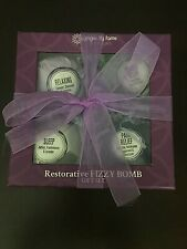 Ginger Lily Farms: Botanicals Restorative Fizzy BATH BOMB 4 piece Gift Set Box