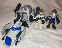 Star Wars Playskool Galactic Heroes BARC Speeder With Obi Wan Kenobi & Anakin