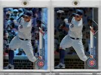 2020 Topps Chrome #71 Anthony Rizzo Prism Refractor & Base Chicago Cubs Lot x2
