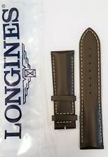 Original Longines 22mm Brown Leather Watch Band Strap # L682150232