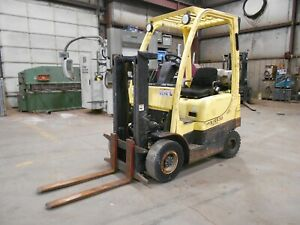 2010 Hyster H30FT, 3,000#, 3000# Pneumatic Tired Forklift w/ Trucker Mast