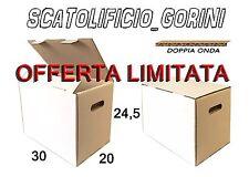50 PZ SCATOLA CARTONE BIANCO 30X20X25 DOPPIO RINFORZO ROBUSTISSIME SPEDIZIONE