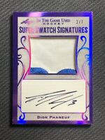 2019-20 LEAF ITG USED DION PHANEUF SUPER SWATCH SIGNATURES PATCH AUTO #ed 2/7