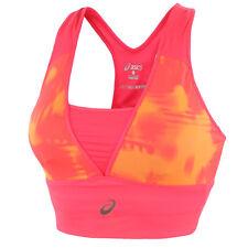 ASICS Sports Bra Vest Tank Top Ladies Womens Running Gym Fitness Black Pink XS