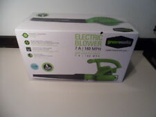 Electric Leaf Blower GreenWorks, Lightweight Handheld 4.5 Lbs, 7 Amp