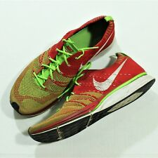 1c87b4720702 Authentic Nike Flyknit Trainer University Red Electric Green SZ 12.5 Men s