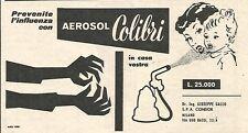 W1910 Aerosol COLIBRI - Pubblicità del 1958 - Vintage advertising