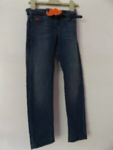 Next girls skinny jeans with belt aged 7 years