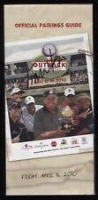 Tom Watson Signed Pairings Guide Autographed Golf Signature Outback Pro Am 2010