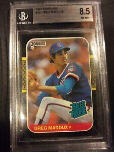 1987 Donruss Greg Maddux Rated Rookie BGS 8.5 NM-MT+