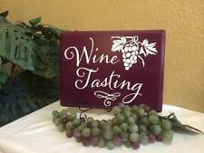 """Wine Tasting"" wooden board sign 8X11"