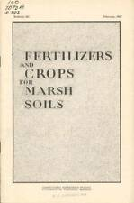 Fertilizers and Crops for Marsh Soils, 1927