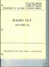 Radio Set AN/TRC-42, Operation/Maintenance/Repairs