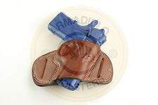 Armadillo Holsters Inc. Tan Leather Mini Speed Belt Holster for Glock 19  (G5)
