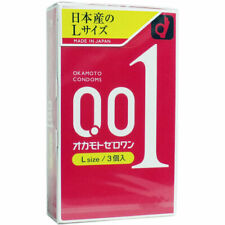 Condom Japan Okamoto 001 0.01 Size L Large Ultrasensitive Extra Thin Non-Latex