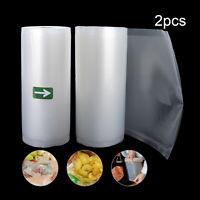 "Vacuum Sealer Bags (2) 8""x 50' Vacuum Sealer Rolls For Food Saver Machine"