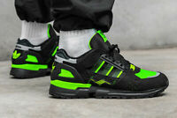 Adidas Jacques Chassaing ZX 10000 C Mens Black Green Reflective Trainer Sneaker