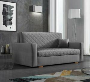 Sofa Benjamin Caro III Ausziehbares Schlafsofa Bettkasten Polstercouch Design
