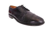 """ALLEN EDMONDS """"Sanford"""" Shoes Black Leather Medallion Tip Cap Toe Size 8 D"""