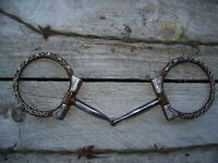 Bit - Antique Barb Wire D-Ring Snaffle