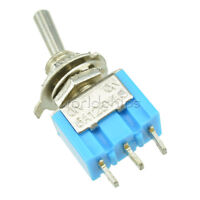 5pcs SPDT MTS-102 3-Pin SPDT ON-ON 6A 125VAC Mini Toggle Switches