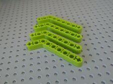 Lego Technic Beam Bent 1x9 (3-7) 53.5° [32271] Lime Green x4