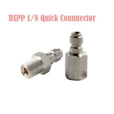 1/8 Bspp Male Thread 8mm copper Plug Quick Connector Paintball Pcp Fill Adapter