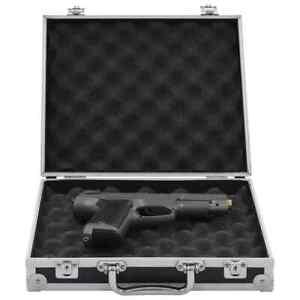 vidaXL Custodia per Pistola Alluminio ABS Nera Scatola Contenitore Valigetta