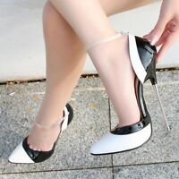 Ladies High Heels Sexy Pump Ankle Strap Pointy Toe Stilettos Evening Shoes Dress