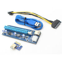 HB- Cg_ KM_ KQ_ PCI Express PCIE PCI-E Riser Card 009s to 1X 16X USB3.0 Extender