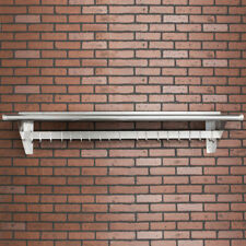 """CMI 15"""" x 72"""" Commercial Wall Mounted Pot Rack with Shelf and Hooks"""