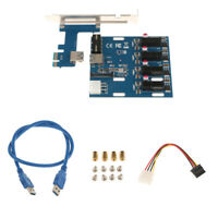 PCI Express 1X to 4X PCI-E 4 Ports Switch Multiplier Expansion Riser Card