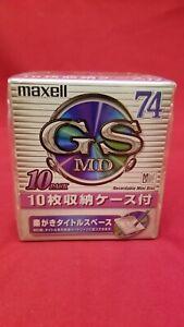[NEW] Maxell GS 74-mniute Minidisc 10-pack