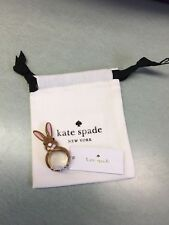KATE SPADE NWT GOLD TONE BUNNY RING SIZE 7 DESERT MUSE