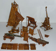 Elastolin 4cm Hausser Katapult Brustwehr Kanone Belagerungsturm u.a. Normannen