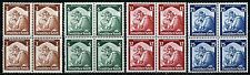 GERMANY DEUTSCHES REICH  SET OF BLOCKS SC#448/51  MICHEL#565/68  MINT NH