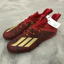New Adidas Adizero Young King New Reign Football Cleats Size 11.5 Red EF8607