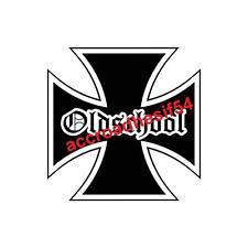 sticker croix de malte old school 15cm  usa auto,moto,custom,harley,indian