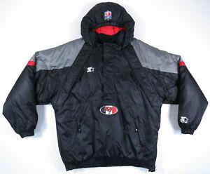 Tampa Bay Buccaneers Starter Pro Line 1/2 Zip Hooded Puffy Football Jacket VTG