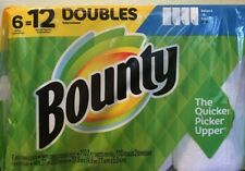 BOUNTY 6 = 12 DOUBLE  Select~a~Size PAPER TOWELs  (Green Pkg/Blue Corner)