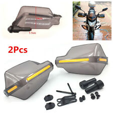 "Universal 2X ABS 7/8"" Motorcycle Smoke Handlebar Brush Bar Hand Guard Protector"