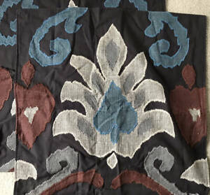 Pottery Barn Emilia Ikat Applique Pillow Cover (Set of 2) ~ 24 x 24 ~ Red Multi